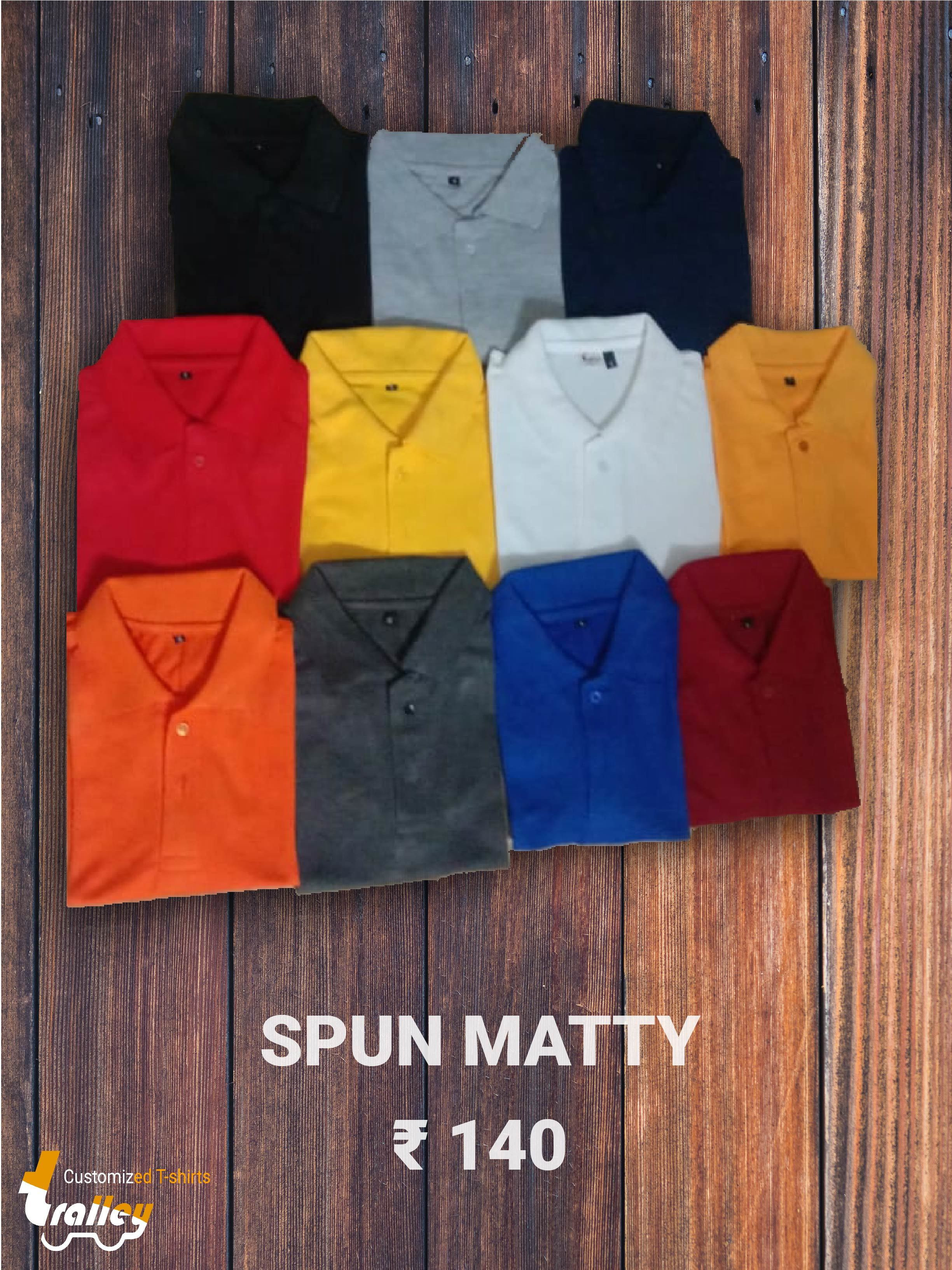 Spun Matty Polo Neck T Shirt