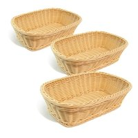 PP Basket Oval, Round & Rectangle - Tan & Brown color