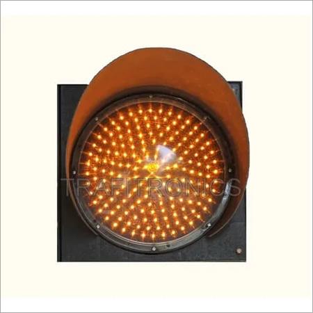 Amber Traffic Signal Light