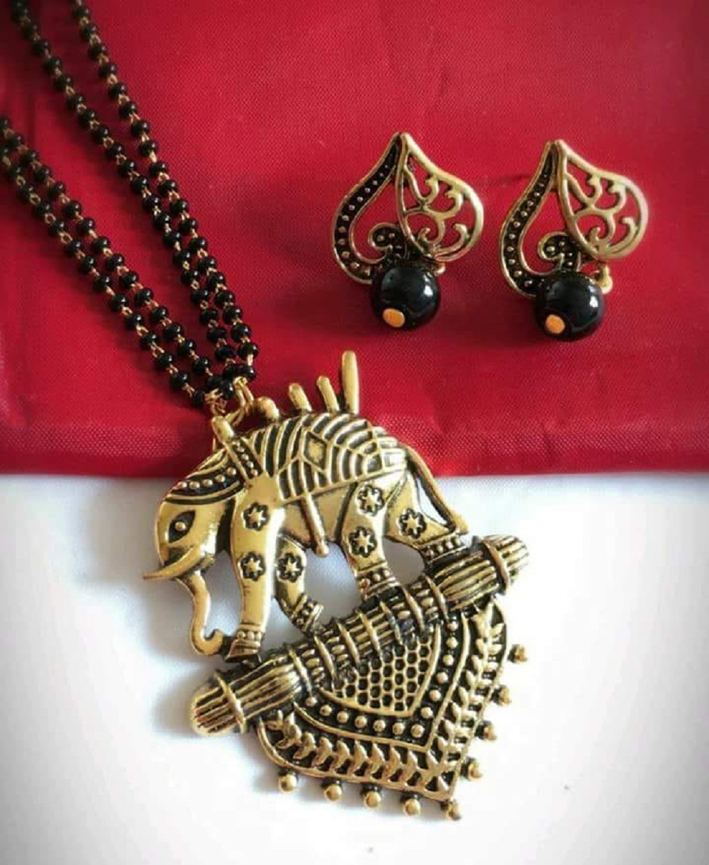 Designer Mangalsutra With Earrings