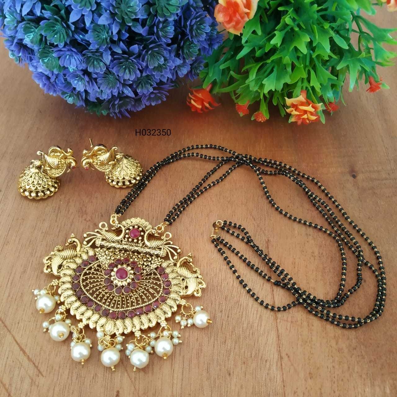 Meenakari Mangalsutra with Earrings