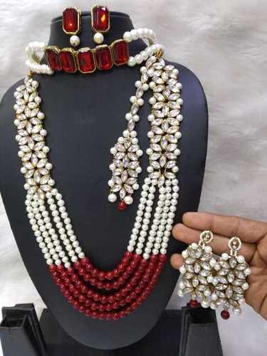 Long kundan and Choker Combo Necklace Set
