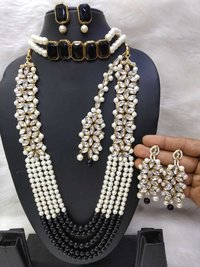 Long kundan and Choker Combo Necklace Set