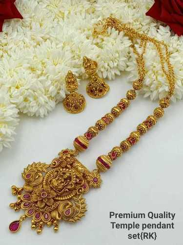 Golden Temple Necklace with Earrings