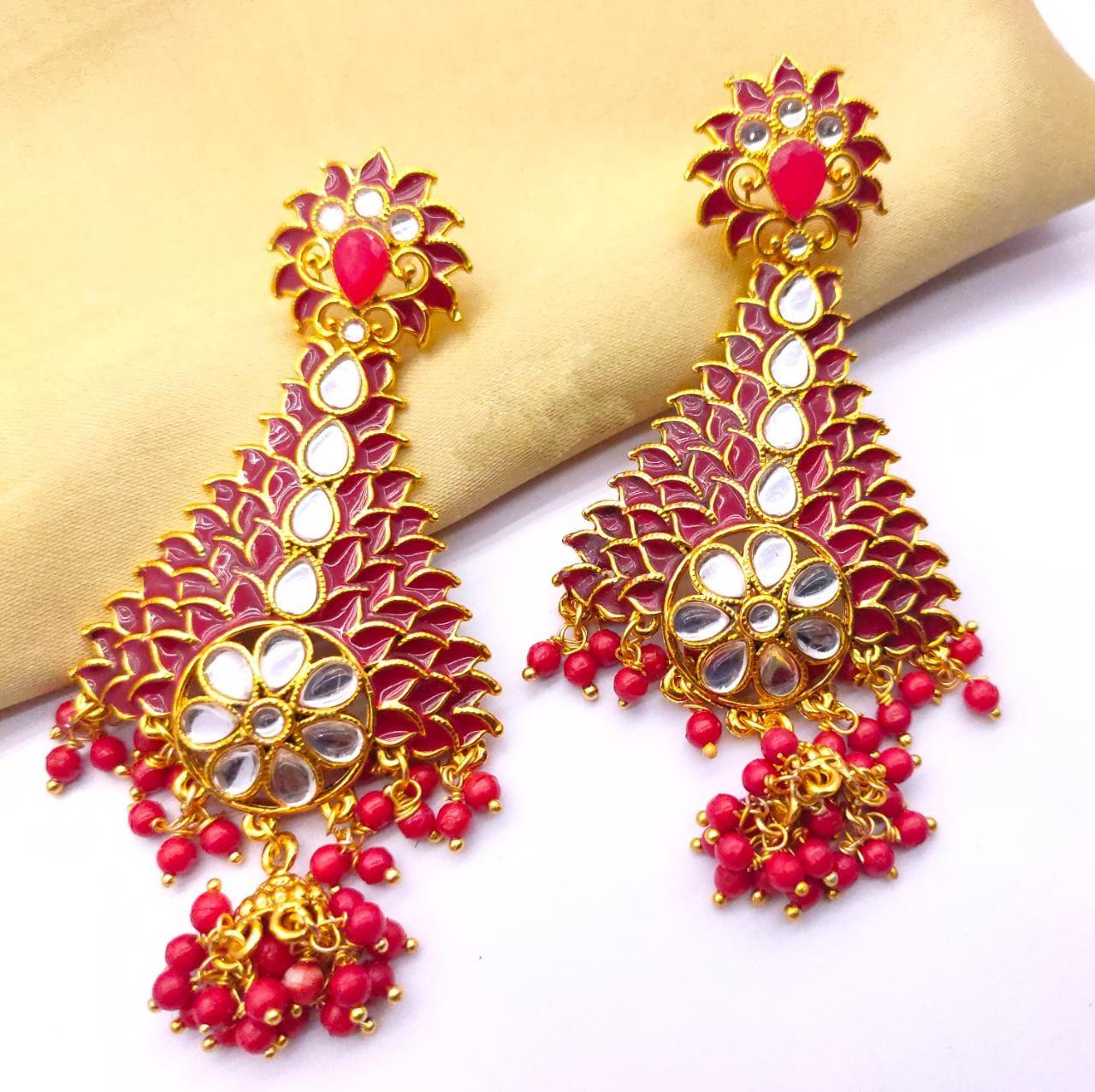 Meenakari Kundan Earrings