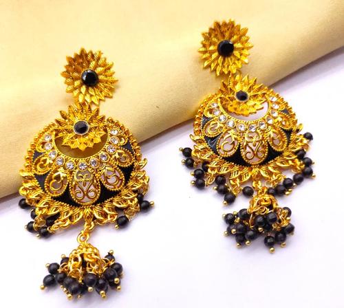 Kundan Meena Earrings