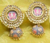 Meena Jumkha Earring