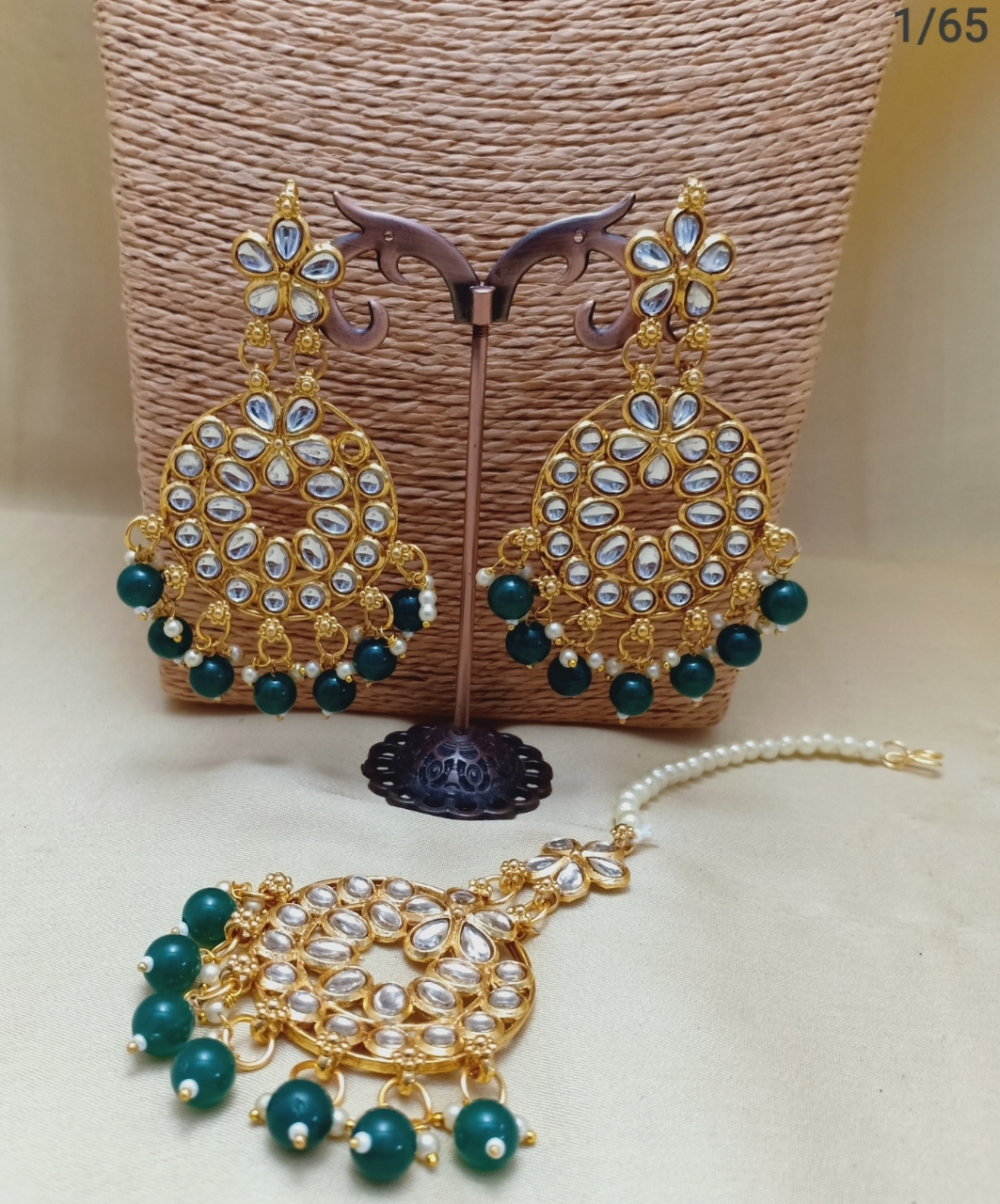 Polki Earring with Earrings