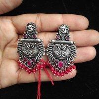 German Stone Earrings
