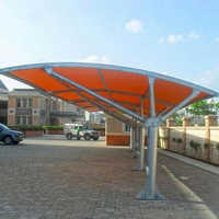 FRP Prefabricated Car Parking Shed
