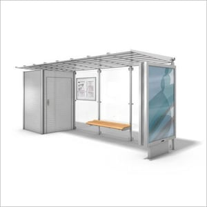 SS Portable Bus Stop Shelter