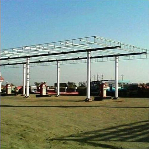 MS Prefabricated Petrol Pump Canopy