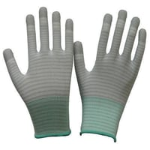 ESD PU Finger Stripe Gloves