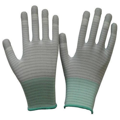 Esd Pu Finger Stripe Gloves Application: Industrial
