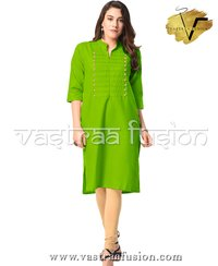 Stylish Both Side Button Cotton Kurti