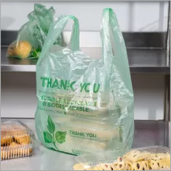 Semi Transparent Biodegradable Vegetable Bags