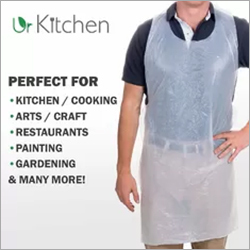 Bio Based Plastic Throw Away Aprons