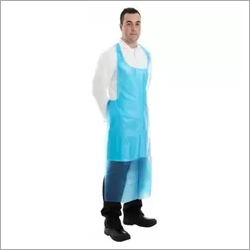 Blue Long Biodegradable Aprons