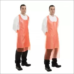 Compostable Red Biodegradable Aprons