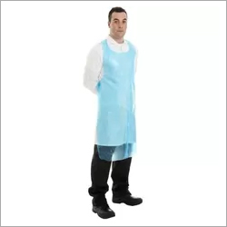 Light Blue Plastic Kitchen Apron