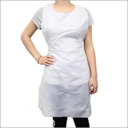 White Disposable Adult Aprons