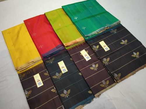 Pure Kanchipuram Skirt Border Silk Saree