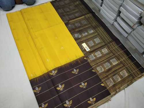 Pure Silk Skirt Border Yellow And Black Combination