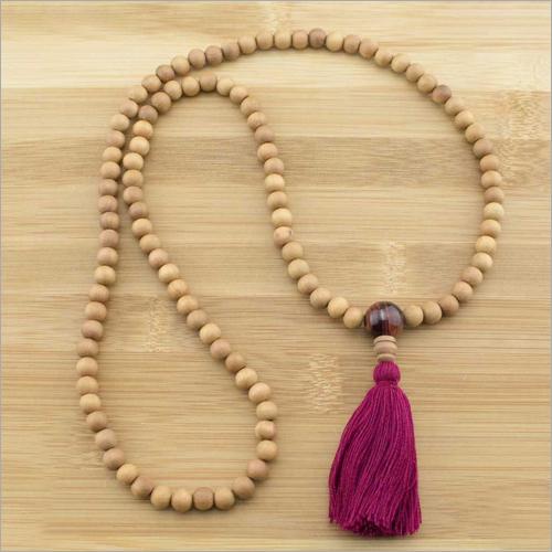Wood Color Chanting Sandal Mala