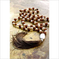 Chanting Rudraksha And Pearl Mala