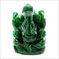 Natural Green Ganesha Statue