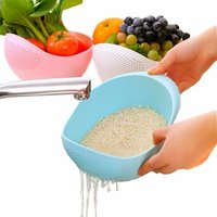 Rice Pulses Fruits Vegetable Noodles Pasta Washing Bowl & Strainer