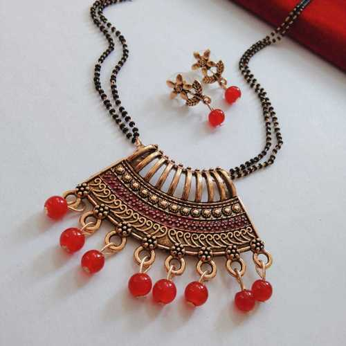 Artificial Party Mangalsutra with Earrings
