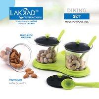 Multipurpose Dining Achar Jars & Stand 3 Pcs Container