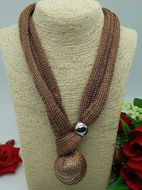 Fabric Net Necklace
