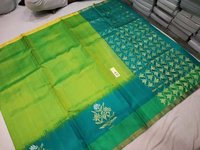 Pure Kanjivaram Silk Saree With Side Butta Border