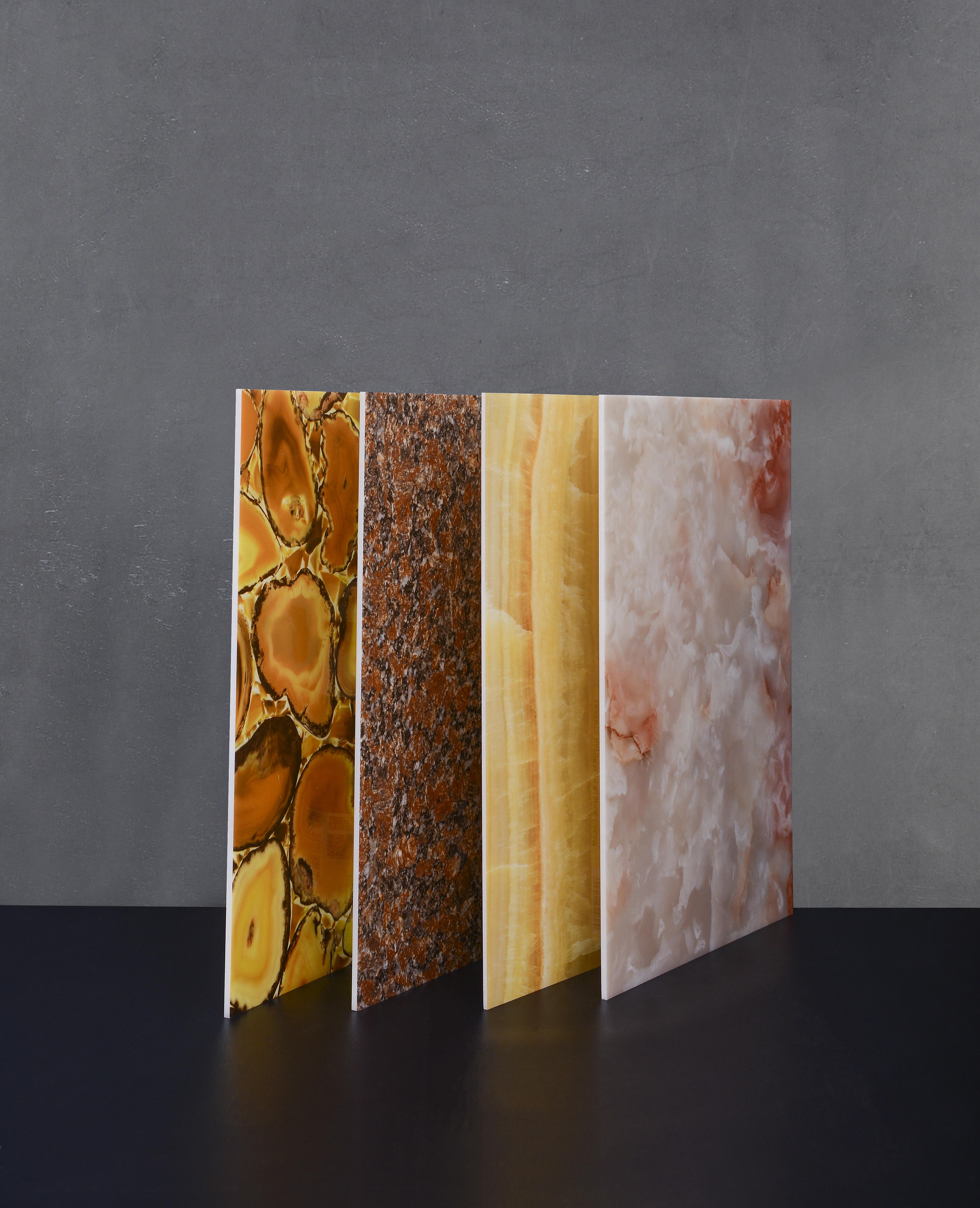 Backlit Decor Faux Alabaster / Marble  Lighting Translucent Sheets