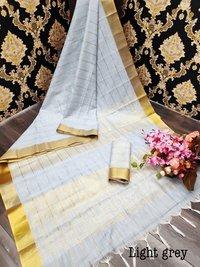 New Linen Saree