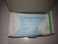 3 Ply Nonwoven Disposable Face Mask with Earloop , Medical and Surgical Disposable Facemask