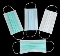White And Blue PP Non-Woven Surgical Face Mask
