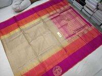 Pure kanchipuram side butta zari border