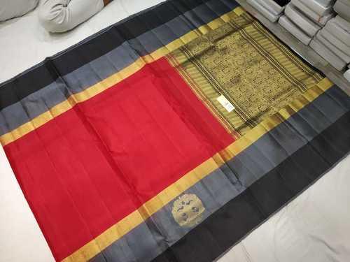 pure silk double warp side butta saree