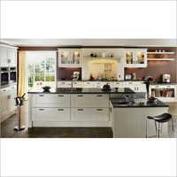 Open Wooden Modular Kitchen