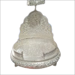 Silver White Metal Stand Singhasan
