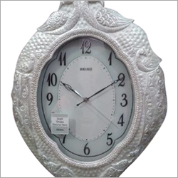 Silver Handicraft Wall Clock