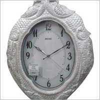 Silver Handicraft Wall Clock