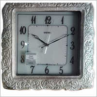 Silver Plated Analog Wall Clock