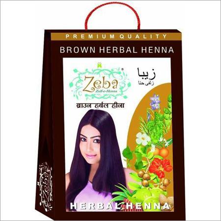 Brown Herbal Henna Mehndi Powder