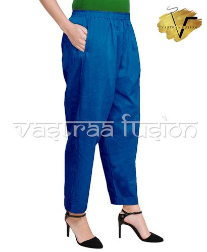 Ladies Ankle Length Cotton Pants