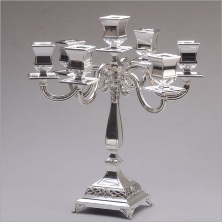 Silver Decorative Candle Stand