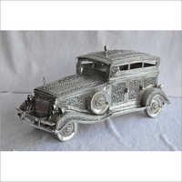 Silver Decorative Car